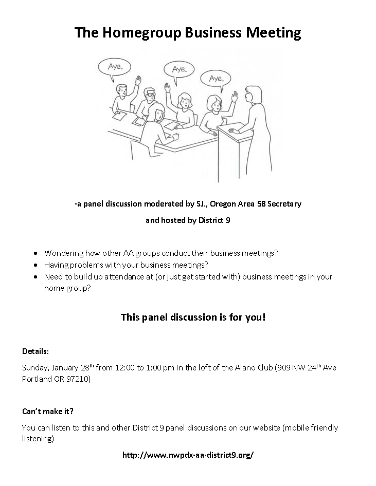 Homegroup Business Meetings Flyer